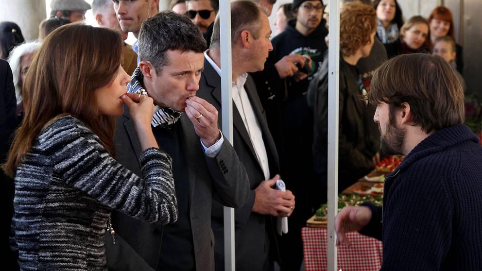 Danska prinsparet har tidigare varit och ätit mat med Noma-ägaren Rene Redzepi.