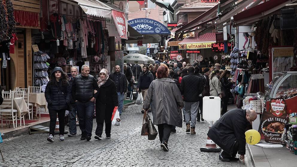 Valdagen var lugn på Istanbuls gator.
