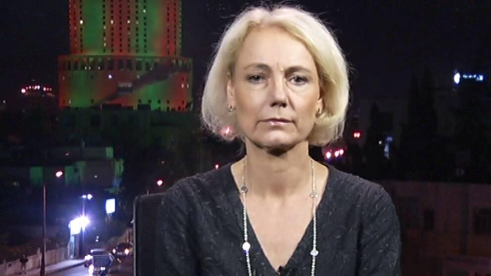 Sidas generaldirektör Charlotte Petri Gornitzka på plats i Jordanien.