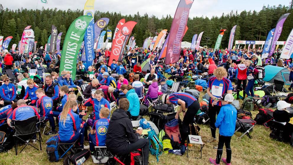 Löpare förbereder sig inför O-ringen 2015 i Borås.