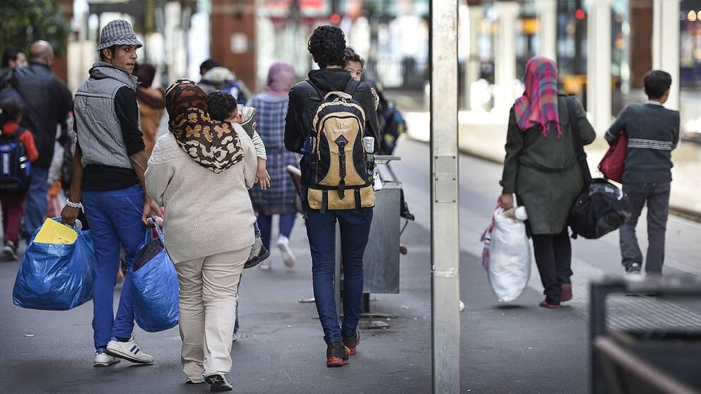 Afghaner, syrier och irakier är de största grupperna.