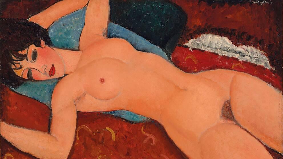 "Amedeo Modiglianis ""Nu couché"" från 1917."