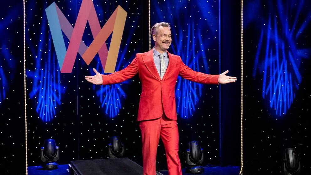 Henrik Schyffert, en av programledarna till nästa års Melodifestival