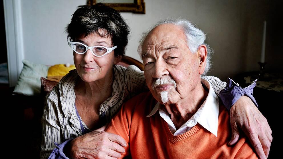 Yvonne Lombard och Lennart Hellsing 2009.