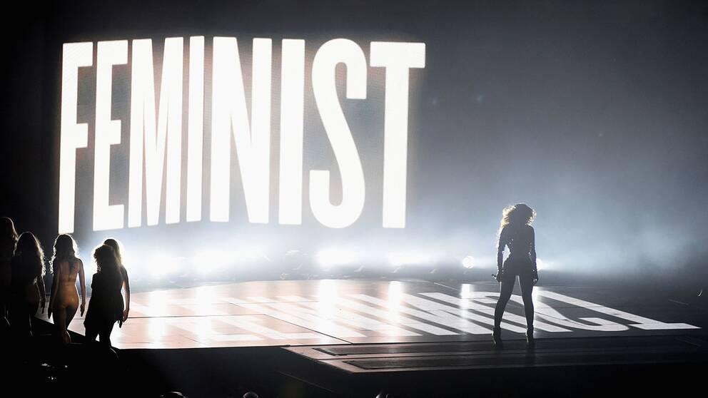 Beyoncé gjorde ett feminist-statement under en MTV-gala 2014.