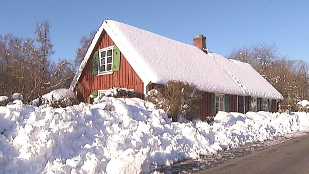 Vinterlandskap i Höör den 23 november efter snöandet den 21–22 november.
