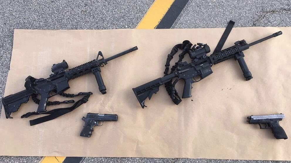 Gärningsmännen i San Bernardino var beväpnade med automatvapen och pistoler. Här är vapnen som användes.