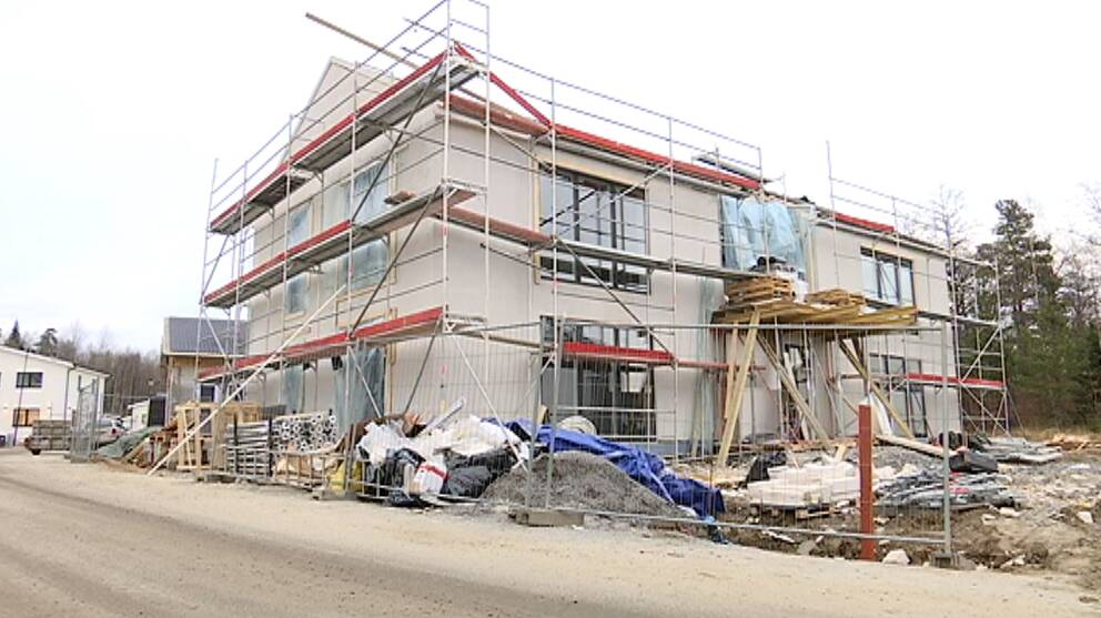 Hus under uppbyggnad