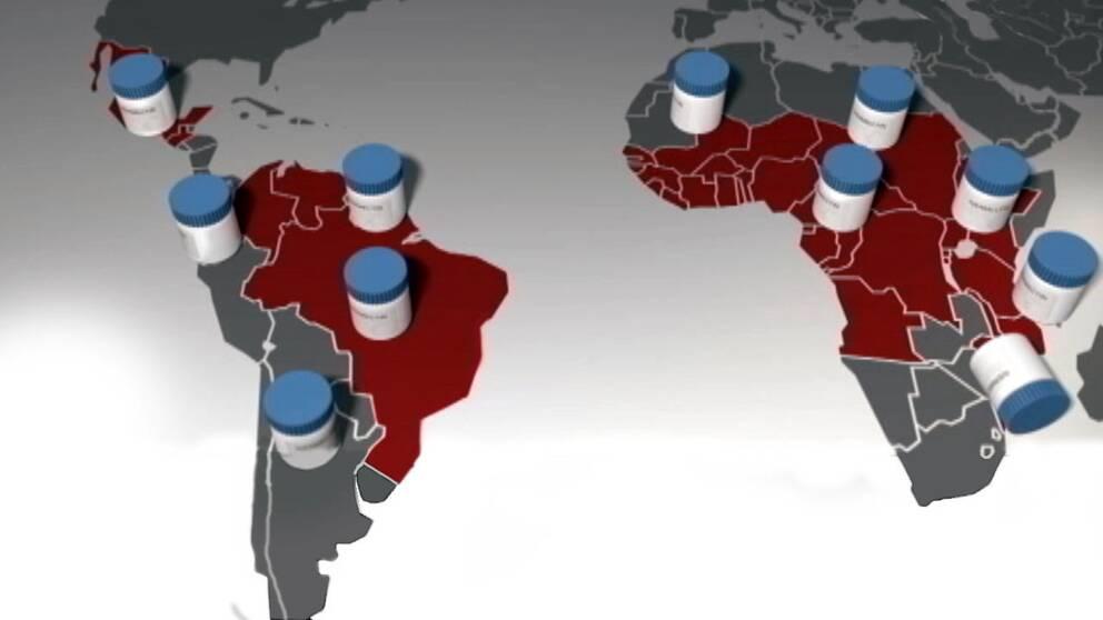 Flodblindhet är ett stort problem i Latinamerika och Afrika.