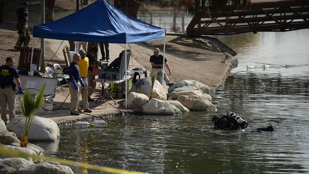 Syed Farook och Tashfeen Malik ska ha setts vid sjön samma dag som de sköt ihjäl 14 människor.