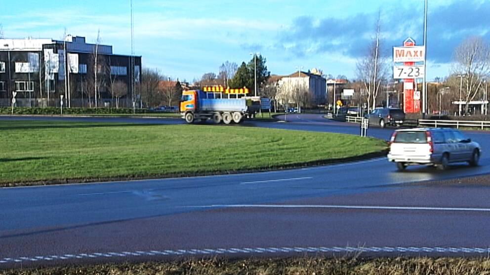 Grådarondellen i Borlänge vid utfarten till Falun.