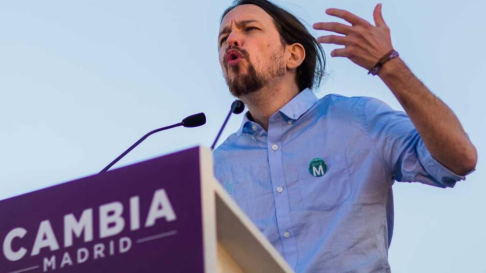 Pablo Iglesias, ledare för Podemos.