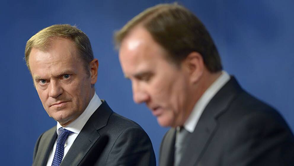 EU-toppmötets ordförande Donald Tusk och statsminister Stefan Löfven.