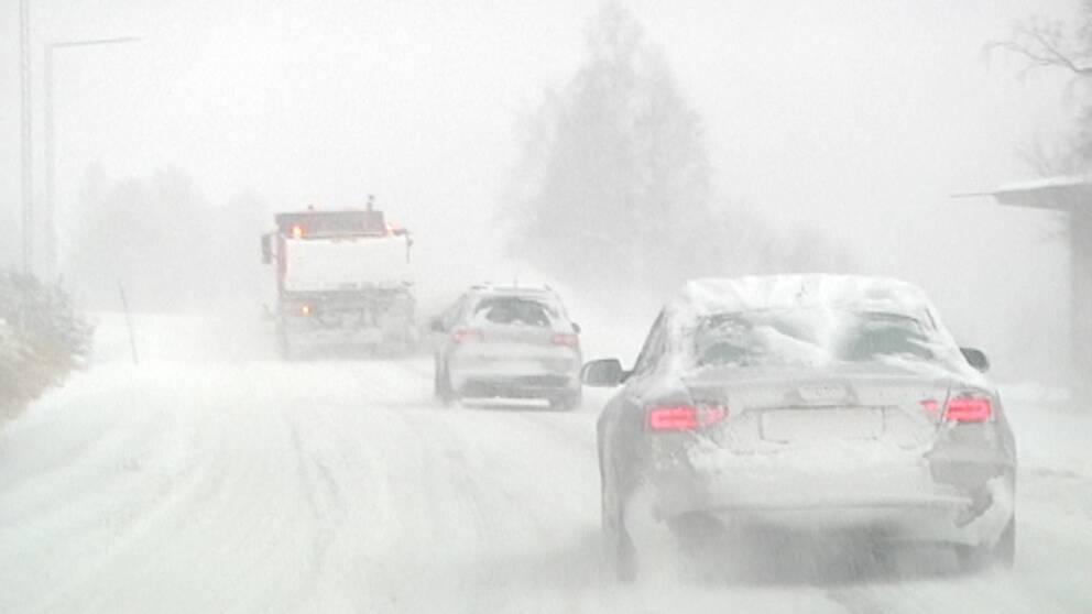 Mycket snö föll den 29 oktober, bland annat i Sälen i norra Dalarna.