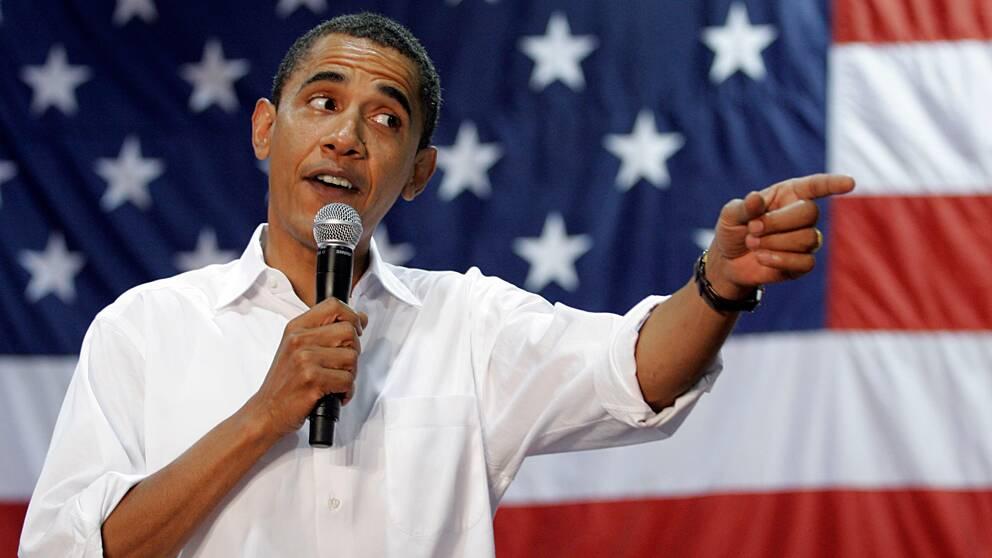 Barack Obama (1961-). Demokrat – svor presidenteden den 20 januari 2009. Vicepresident Joe Biden.