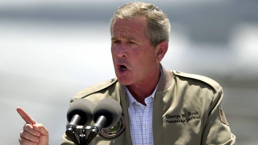 George W. Bush (1946-). Republikan – president mellan 20 januari 2001 och 20 januari 2009. Vicepresident Dick Cheney.