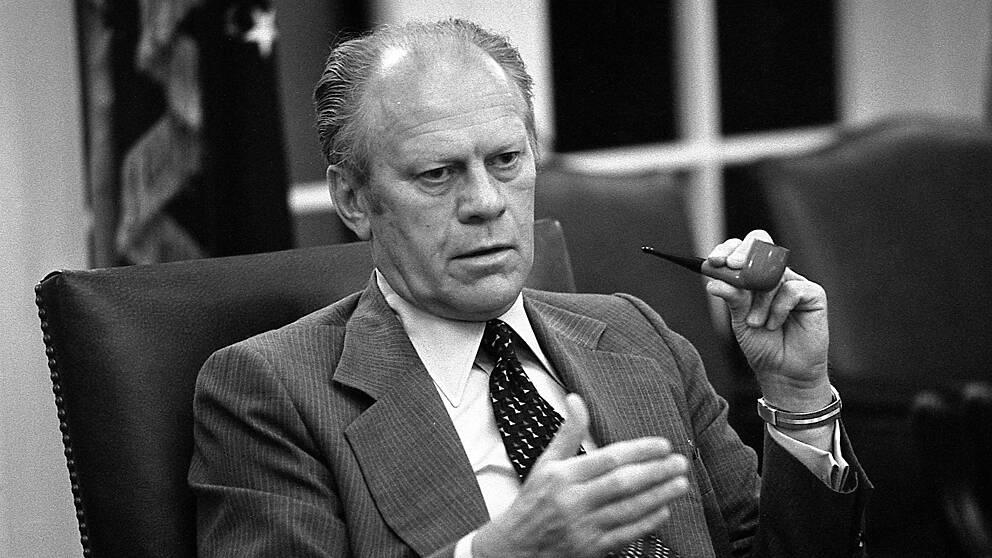 Gerald Ford (1913-2006). Republikan – president mellan 9 augusti 1974 och 20 januari 1977. Vicepresident Nelson Rockefeller.