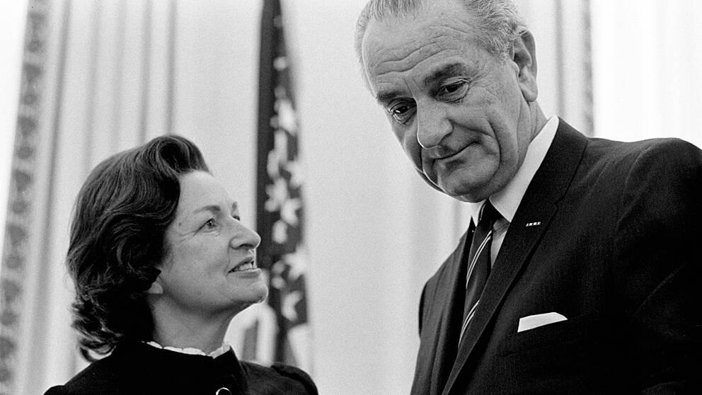 Lyndon B. Johnson (1908-1973). Demokrat – president mellan 22 november 1963 och 20 januari 1969. Vicepresident Hubert Humphrey.