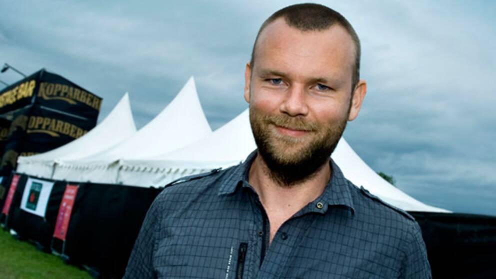 Martin Forssman, pressansvarig och vice vd för Sweden Rock Festival.