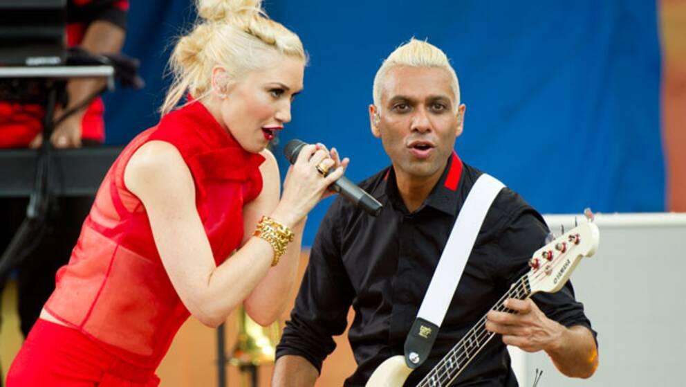 Gwen Stefani och Tony Kunal från bandet No Doubt.