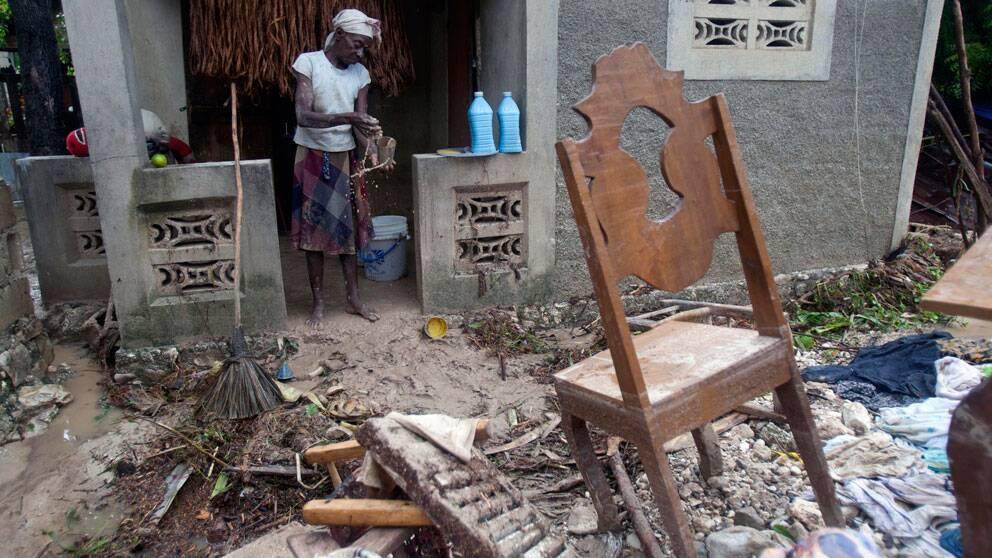 Förödelse efter stormen Sandys framfart på Haiti. Foto: Scanpix
