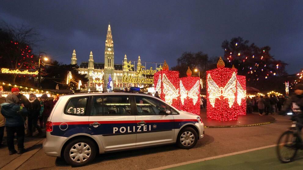 Österikisk polis i Wien.