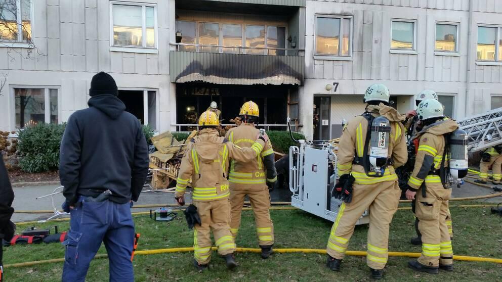 Brand i hyreshus i goteborg