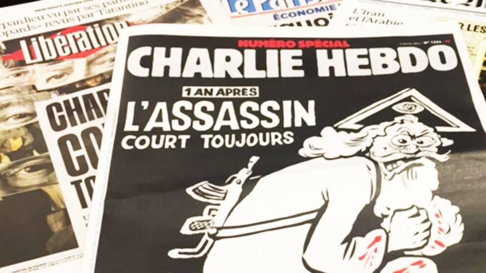 Fransk tidskrift publicerar karikatyrerna