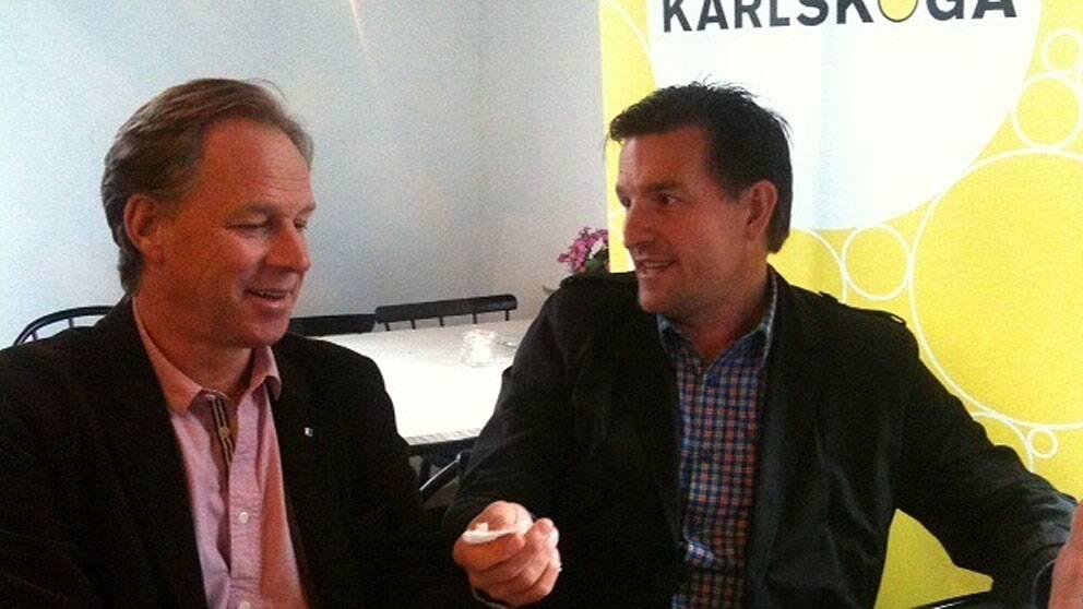 Lars Näsström, utvecklingschef Karlskoga kommun och Stefan Bengtzen, projektkoordinator
