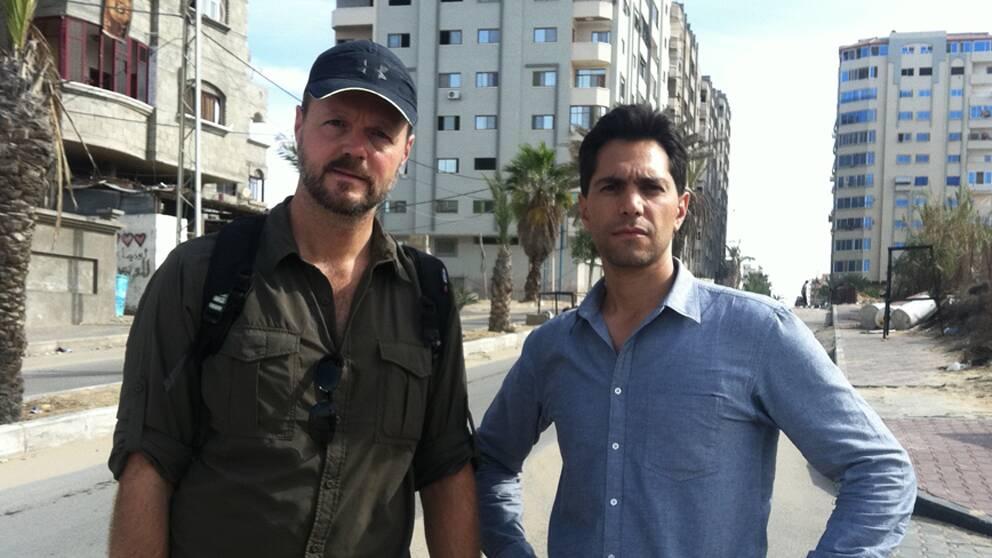 Åke Wehrling och Samir Abu Eid i Gaza