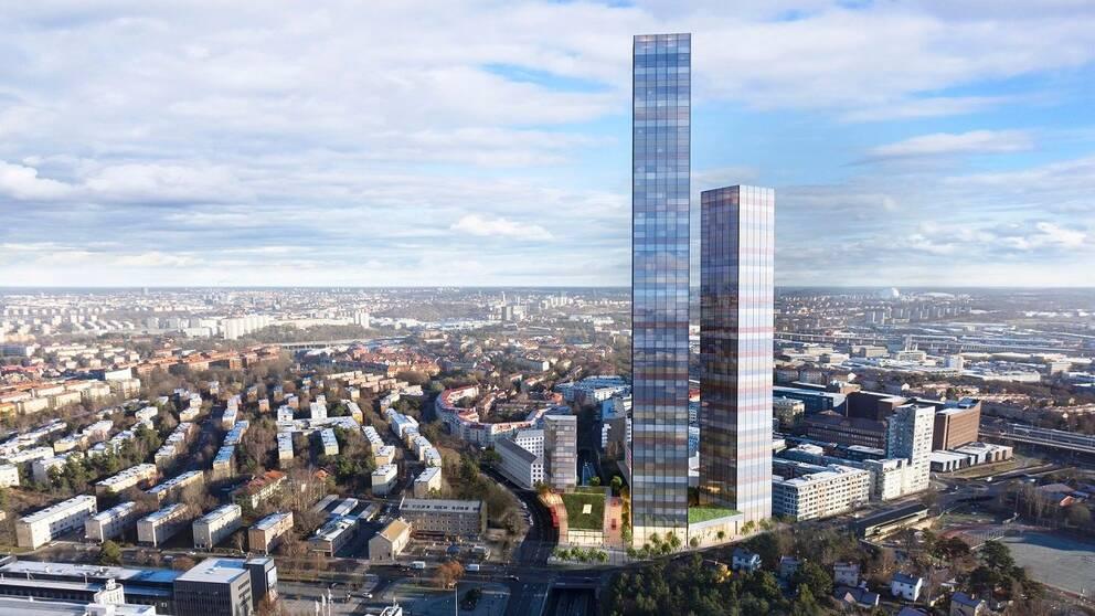 75 våningar höga skyskrapan Tellus Tower