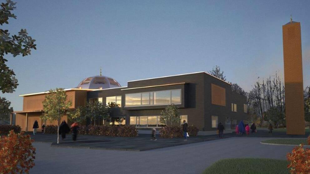 Så här kan det islamiska centret med moskése ut i framtiden i Borlänge.