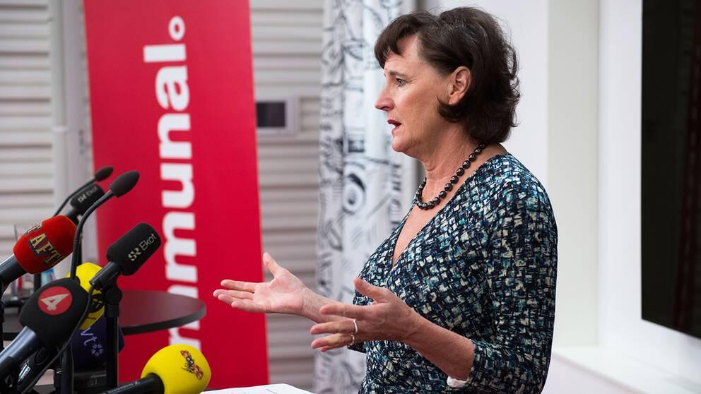 Kommunals ordförande Annelie Nordström.