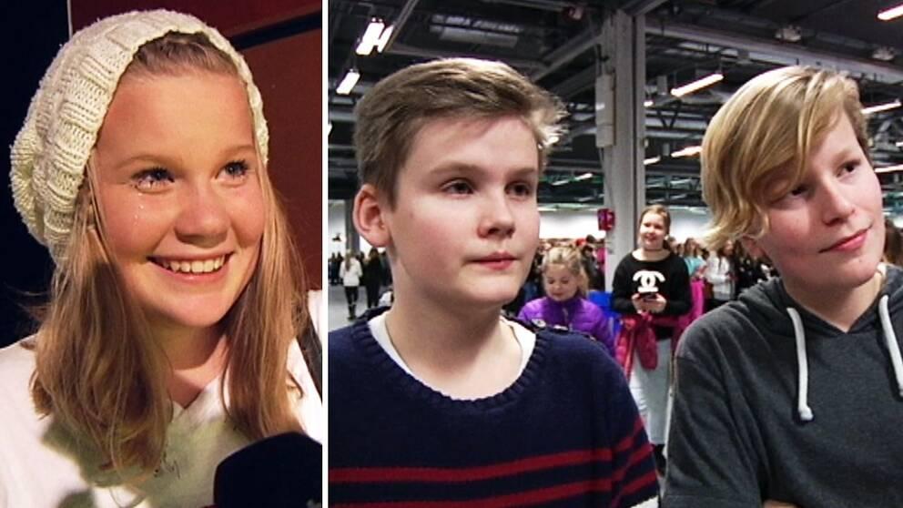13-åriga Nadja Tür och kompisarna EliasHolmoch JonathanAndersen, 11 år.