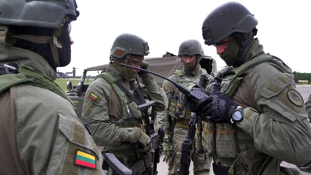 Militärövningen Exercise Flaming Sword 2014 i Litauen, som anslöt sig till Nato 2004.