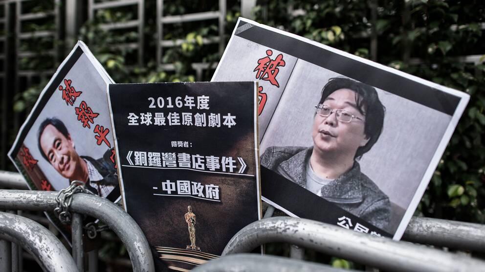"""Kina bekräftar att den svenske förläggaren Gui Minhai är under """"tvångsåtgärder""""."""
