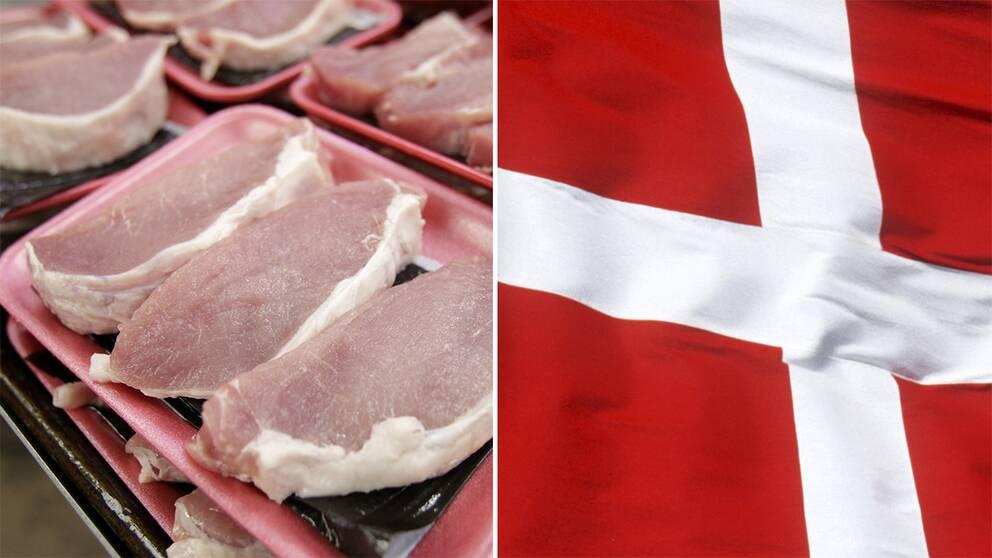 FLäskkött, dansk flagga.