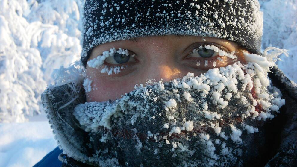 Kicki Blombacke i vacker vinterskrud.