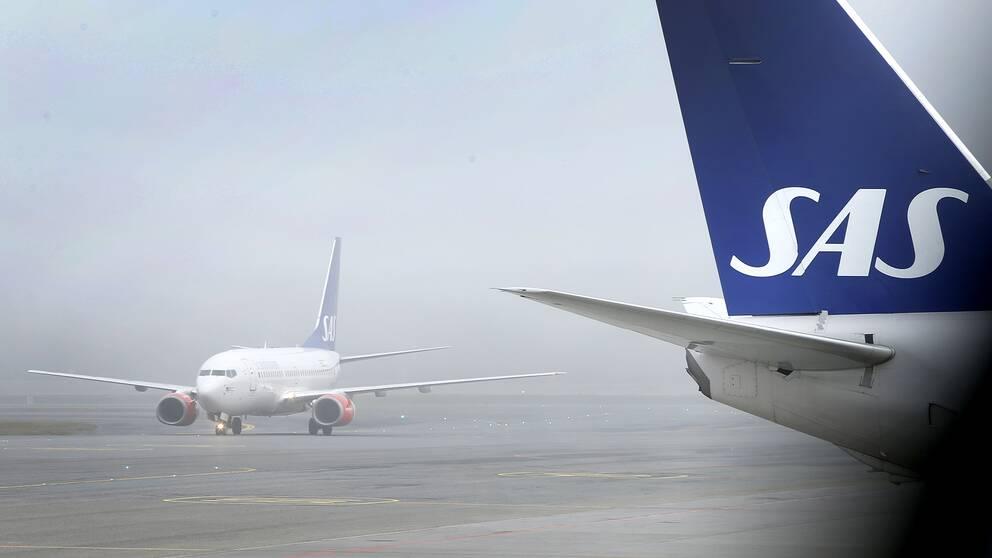 Flygbolaget SAS har ställt in flygningar till USA på grund av snöstormen i landet.