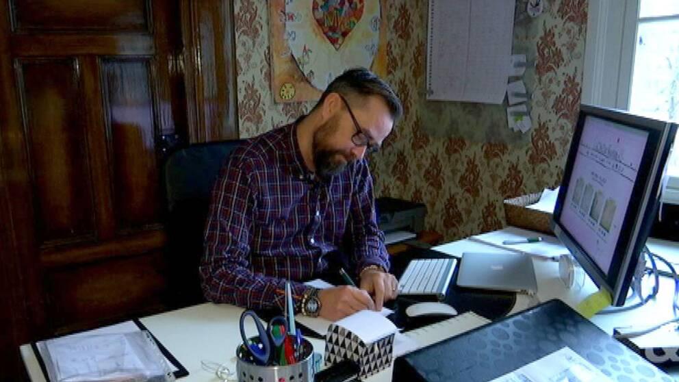 Föreläsaren Micke Gunnarsson från Ronneby.