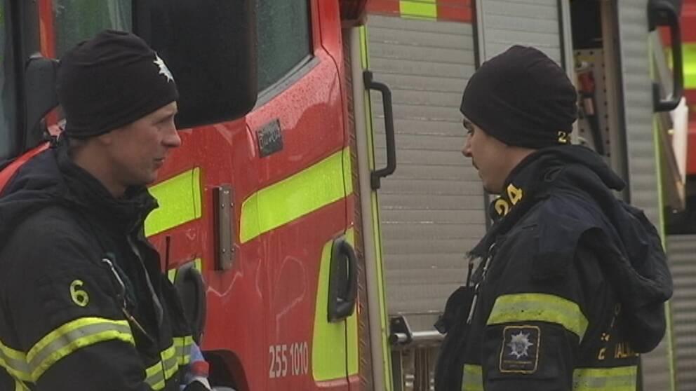 Mordbrand svt personal till sjukhus
