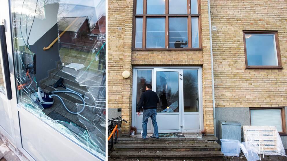 Personalen kände sig tvungen att låsa in sig när ett storbråk uppstod på ett boende för ensamkommande barn i Lindås i Emmaboda kommun på onsdagskvällen.
