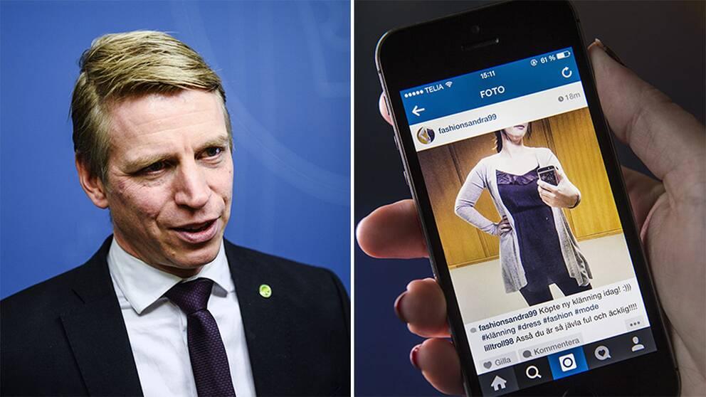 Konsumentminister Per Bolund (MP) säger till SVT att Sverige inom två år har infört åldersgräns på sociala medier.