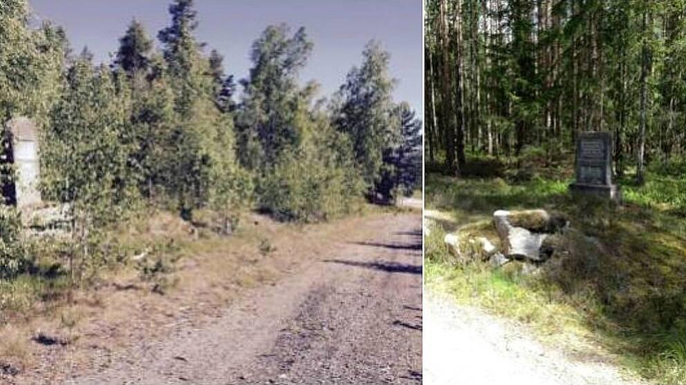 Foto 1. Ovansjö avrättningsplats. Foto 2. Hedesunda-Östervåla avrättningsplats.
