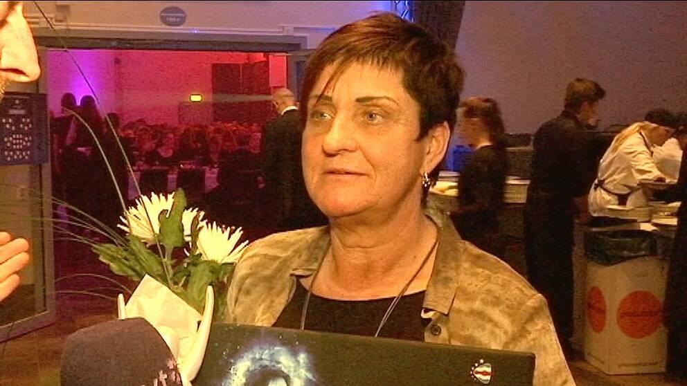 Monica Tjärnström hyllades som Årets bästa ledare för sina insatser för skejtarna i Drakstadens SSK.