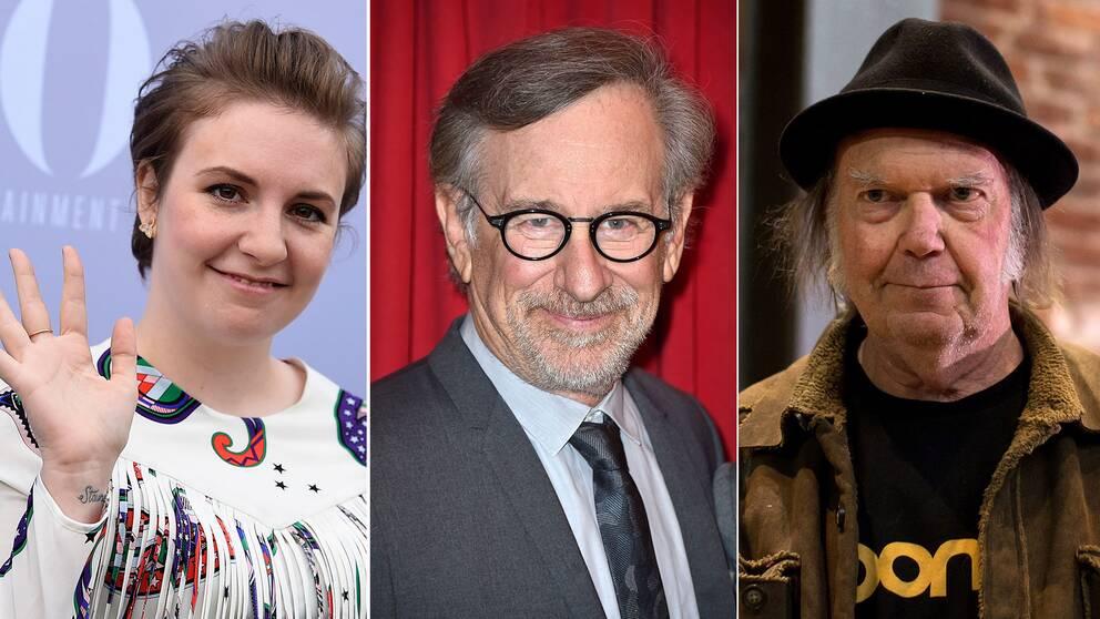 Lena Dunham, Steven Spielberg och Neil Young.