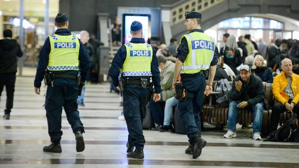 Polisen centralstationen
