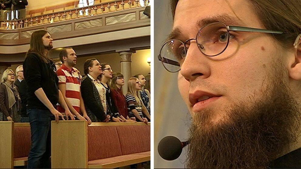 På söndagen hölls en sorgemanifestation i Elimkyrkan i Örnsköldsvik.