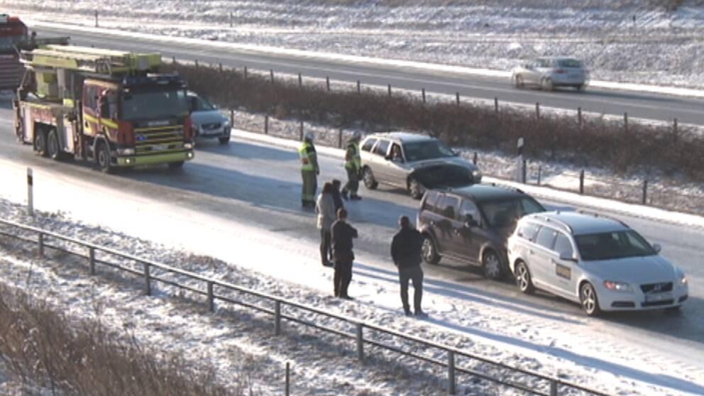 Det var halt på många vägar i Skåne den 5 januari.