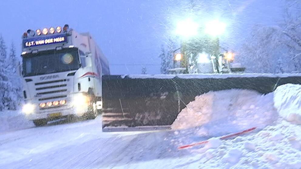 Uppåt en halvmeter med snö föll i Dalafjällen den 10–11 januari.